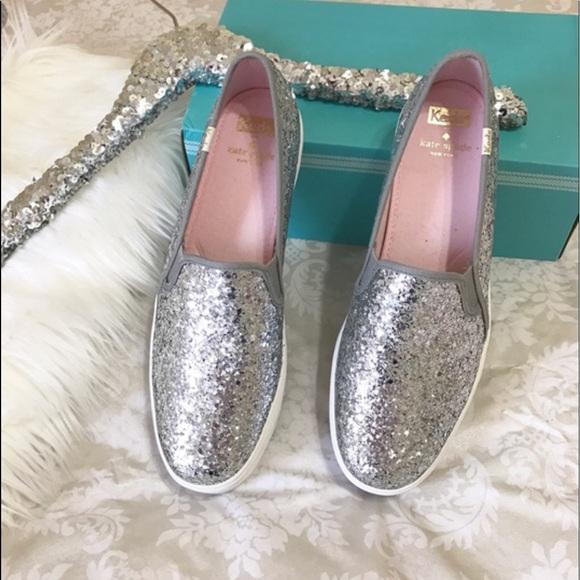 a0be159ab9d8 kate spade Shoes - ♤️Kate Spade♤ Triple Decker silver glitter KEDS!